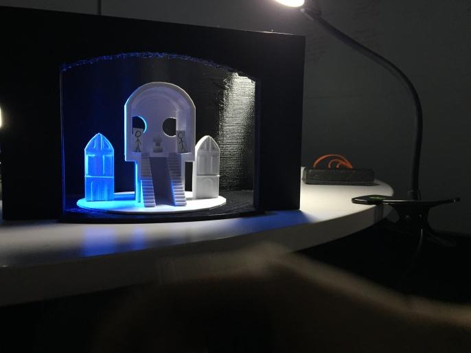 3D printed set design for a scene from Hamlet